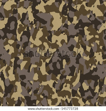 Brown army camouflage texture that tiles seamlessly as a pattern in any direction. - stock photo