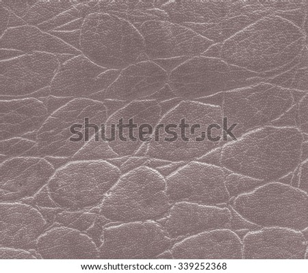 brown artificial snake skin texture  closeup. - stock photo