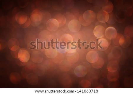 brown background. Elegant abstract background with bokeh defocused lights - stock photo