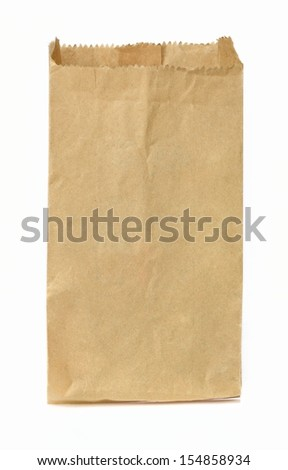 brown bag  - stock photo