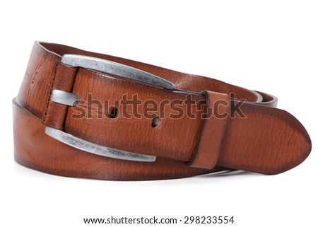 brown belt - stock photo