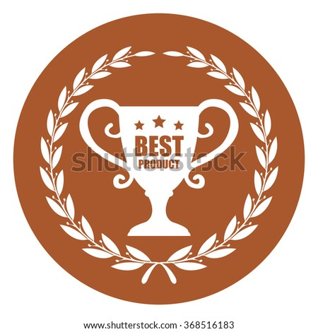 Brown Best Product Campaign Promotion, Product Label, Infographics Flat Icon, Sign, Sticker Isolated on White Background