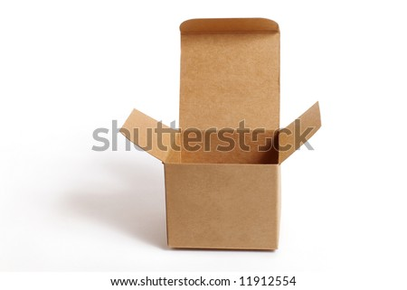 brown box - stock photo