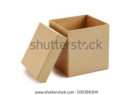 Brown box isolated on a white