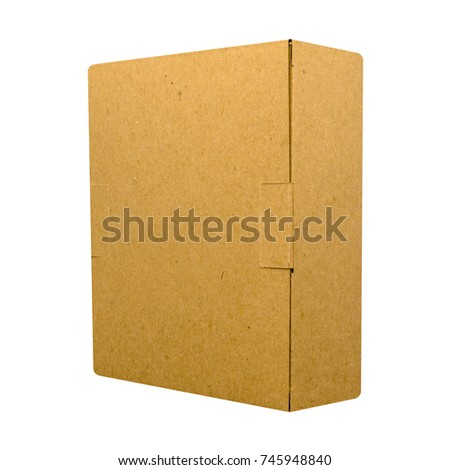 brown box isolated on a white background. side view