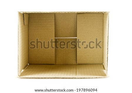 Brown box isolation of a white background.gfddd - stock photo