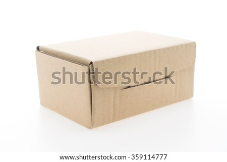 Brown box mock up isolated on white background