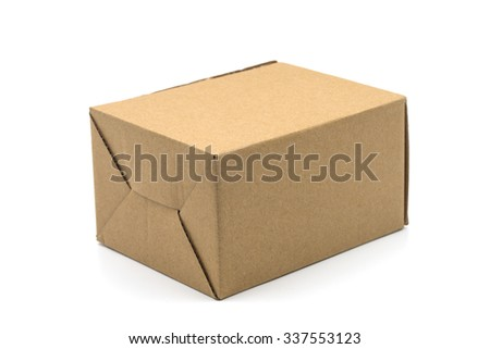 Brown box on a white background.