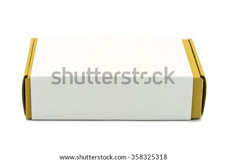 Brown box on white background. - stock photo