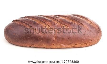 brown bread isolated on white