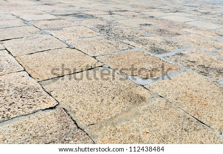 brown brick pathway as background - stock photo