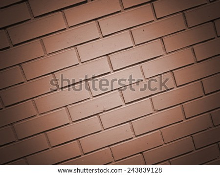 brown brick wall background texture - stock photo