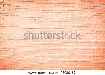 brown brick wall is painted white in the middle for texture background - stock photo