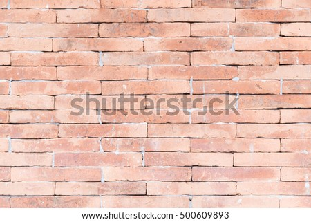 Brown brick wall. The brown brick wall tiles using cement.