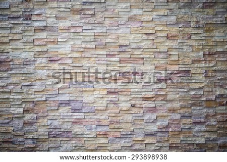 Brown Bricks Wall Pattern texture background - stock photo
