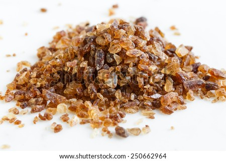 brown candy crystals sugar - stock photo