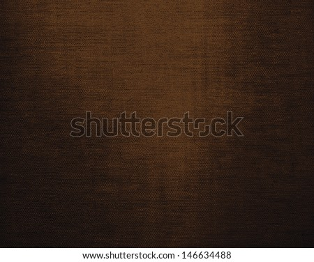 Brown canvas grunge background texture - stock photo