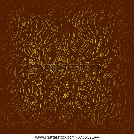 Brown canvas grunge background texture - stock photo