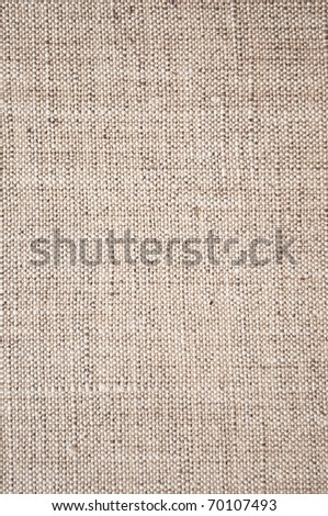 Brown canvas texture - stock photo