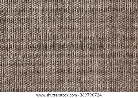 Brown canvas texture or background. - stock photo