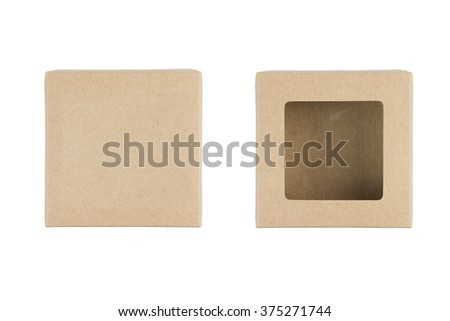 brown cardboard box, isolated on white background