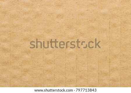 Brown cardboard texture,  paper box background.