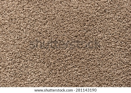 brown carpet with long fringes background - stock photo