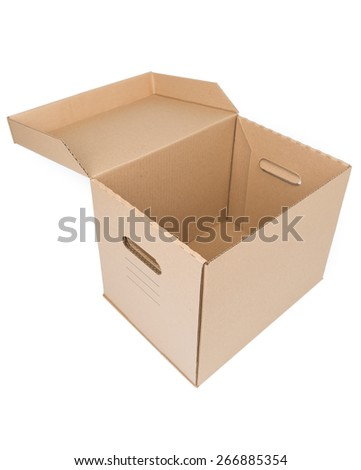 Brown Carton Box Isolated on white background