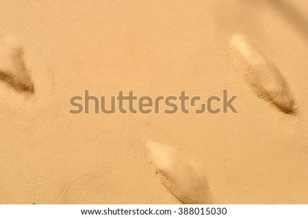 Brown cement wall for texture background - stock photo