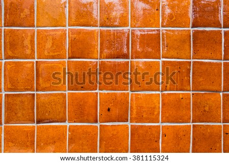Brown ceramic floor tiles - stock photo