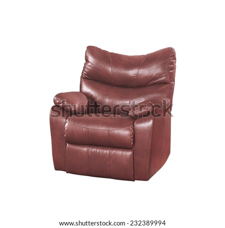 Brown chair isolated on white - stock photo