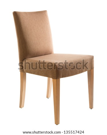 Brown chair isolated on white background - stock photo
