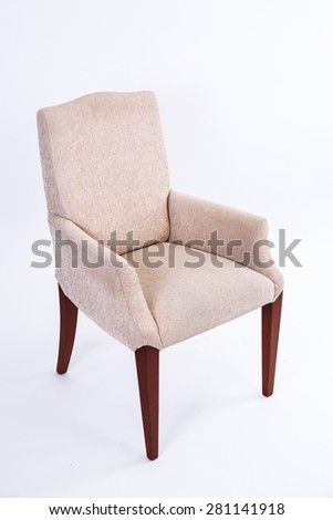 brown chair on white background