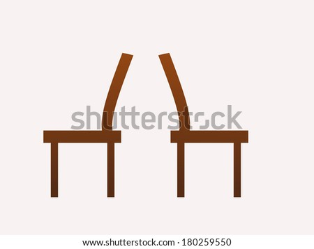 brown chairs at the back illustration