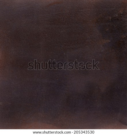 Brown chamois texture, dark and grungy - stock photo