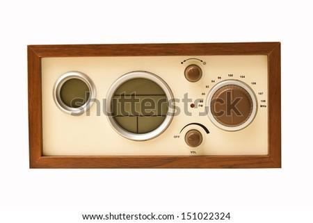 Brown Classic radio - stock photo