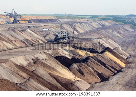 Brown coal open pit mine