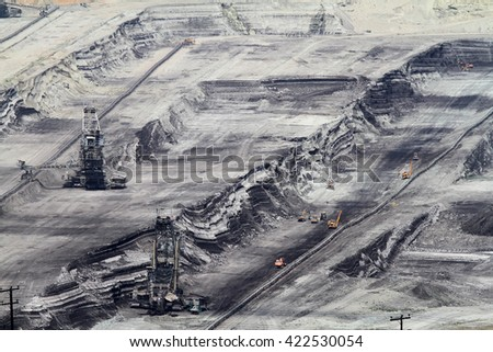 Brown coal opencast mine in a power plant in northen  Greece