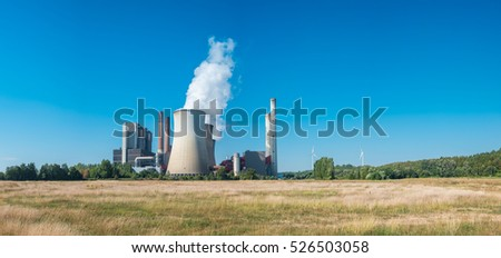 Brown coal power station at summer in weisweiler, germany