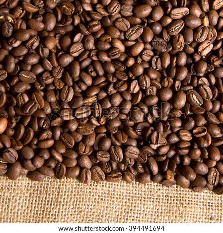 Brown coffee caffeine beans background