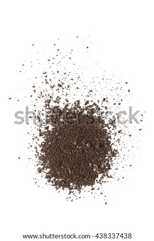 Brown color eyeshadow make up powder on background - stock photo