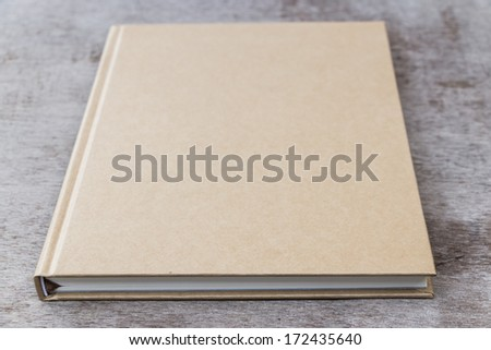 Brown color note book as obliq view - stock photo