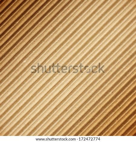 Brown corrugated cardboard texture - stock photo