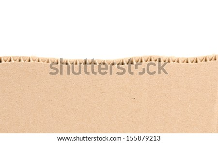 brown corrugated texture paper torn