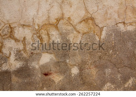 brown cracked background, grunge surface - stock photo