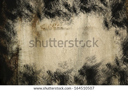 Brown cross section of split tree trunk background