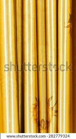 Brown curtain for decorate design project. - stock photo