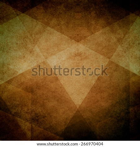 brown design element background. rustic country western colors of tan brown and black in angled squares diamonds and triangle pattern, earthy colors - stock photo