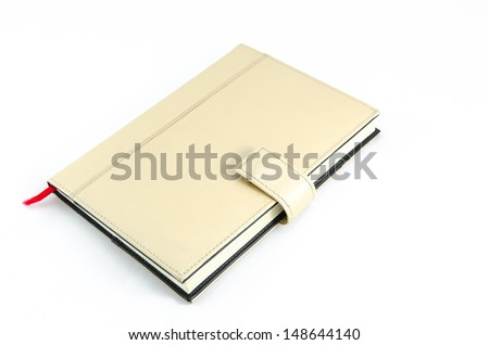 Brown diary isolated over background