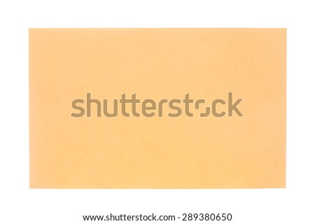 Brown document isolated on white background